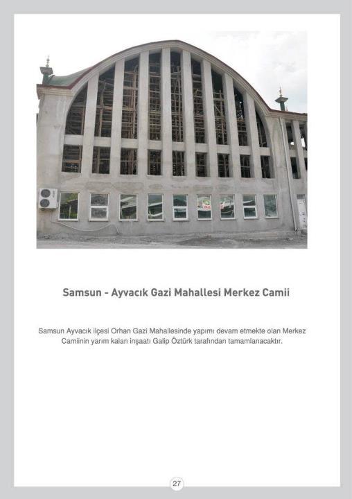 Samsun-Ayvacık Gazi Mahallesi Merkez Camii